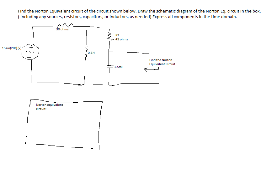 Find the Norton Equivalent circuit of the circuit
