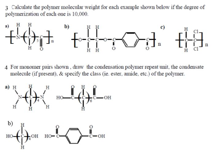 how to find degree of polymerization
