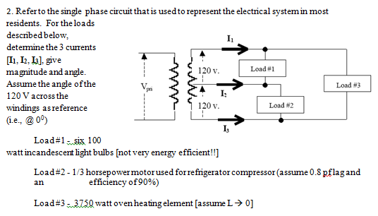Referto the single phase circuit that is usedto re