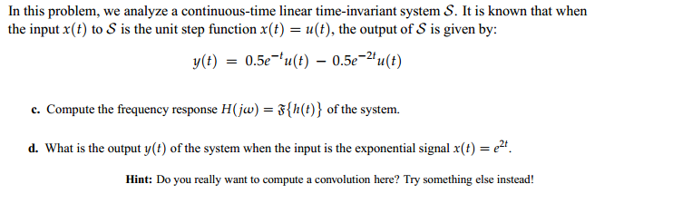 In this problem, we analyze a continuous-time line