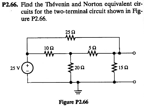 Find the Th6venin and Norton equivalent circuits f