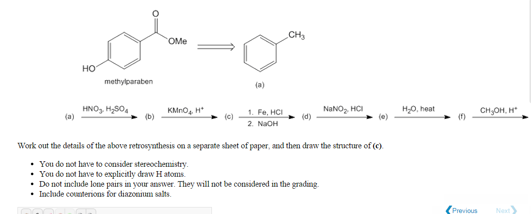 chemistry retrosynthesis problems Hello, i have a problem with retrosynthesis as shown on fig 1 i have to synthesize the product starting from cyclohexenone retrosynthesis help by ivanos, april 29, 2016 in organic chemistry.