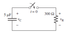 Find the voltage and current through the resistor