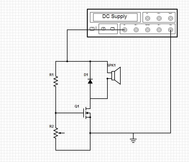 The dc supply is constant 5v R1 = 1M ohm D1 = 3.