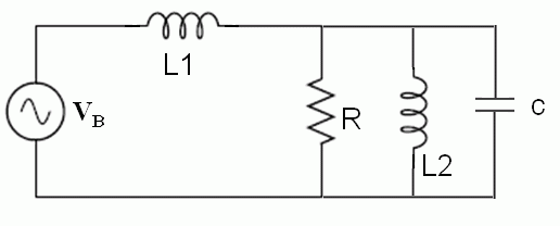 In the following circuit, the angular frequency w=