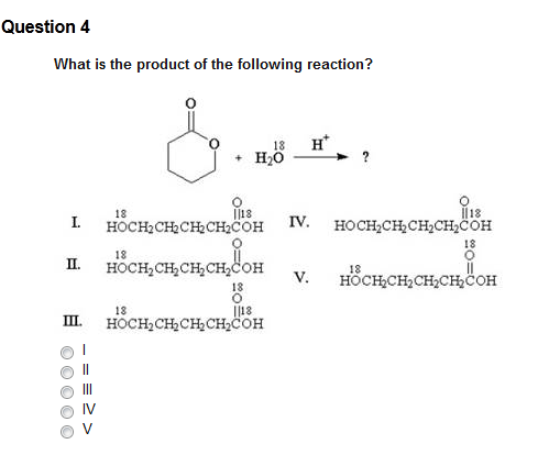 What is the product of the following reaction? I