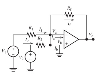 For the circuit shown in figure below, find the ex