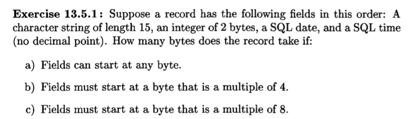 Solved Suppose A Record Has The Following Fields In This