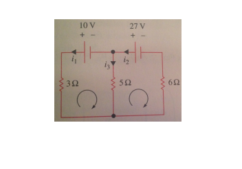For the circuit given below, write down the system