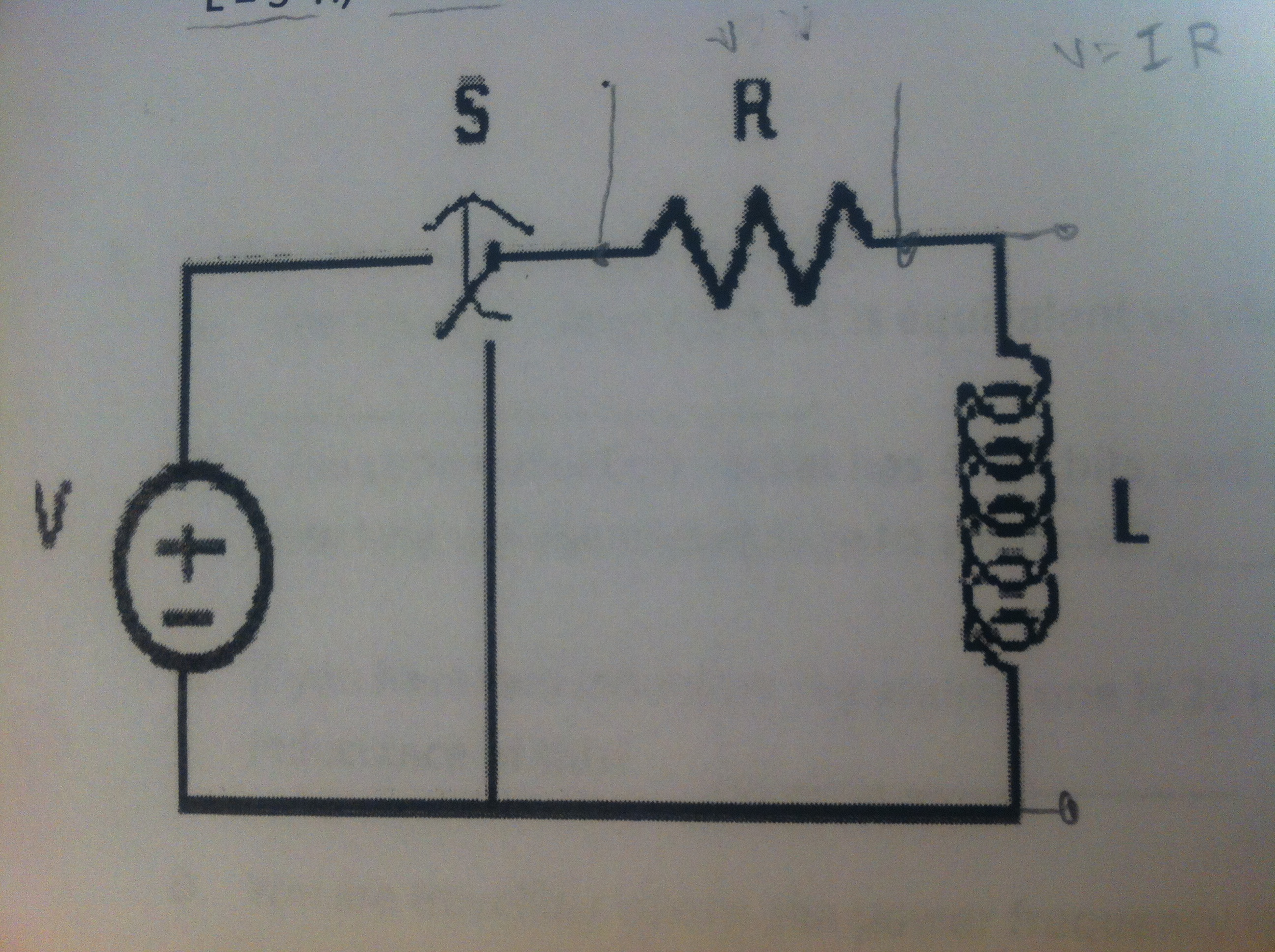For the following circuit S (the switch) change po