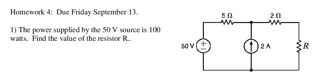 Homework 4: Due Friday September 13. The power su
