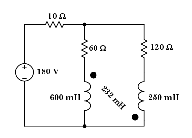Given: The two inductors in the dc-circuit shown a