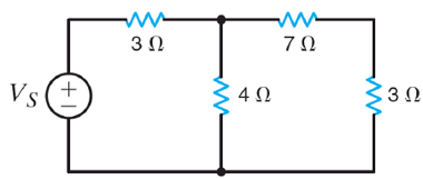 The power absorbed by the 4 Ohm resistor is 100 W.