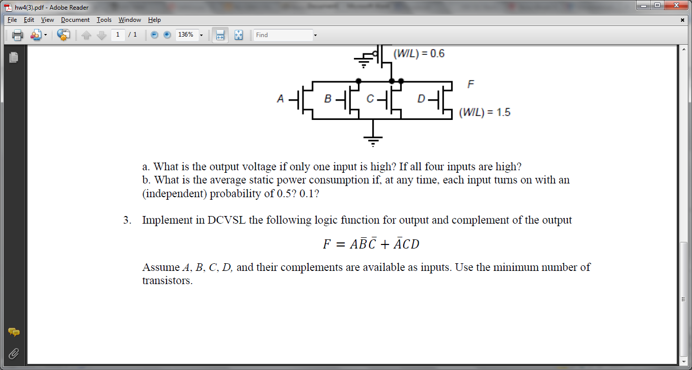 What is the output voltage if only one input is hi