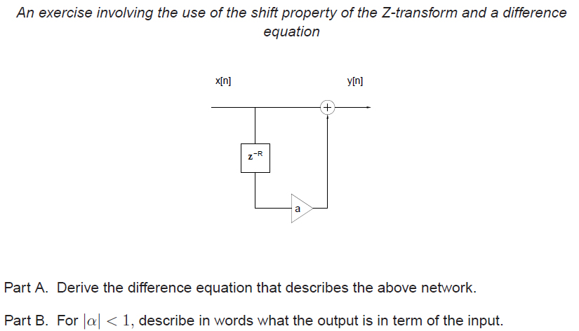 An exercise involving the use of the shift propert