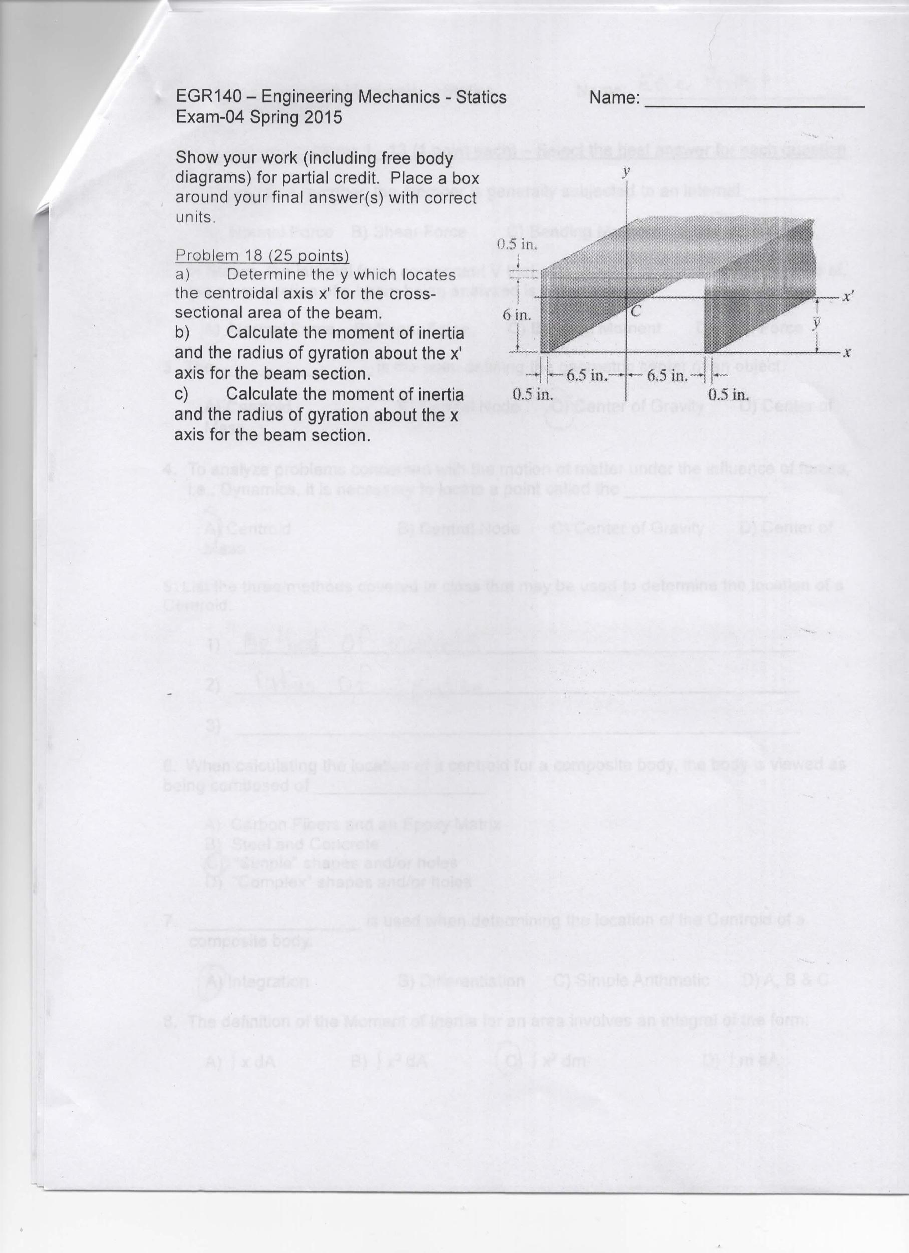 Egr140 engineering mechanics statics exam 04 chegg egr140 engineering mechanics statics exam 04 pooptronica