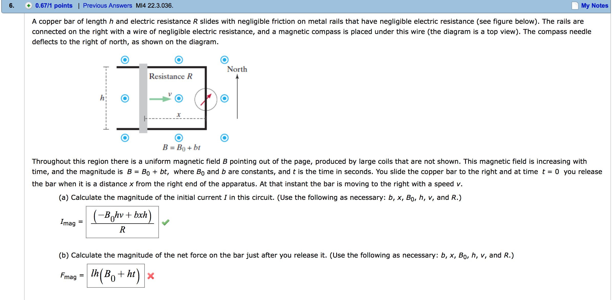 Calculate The Magnitude Of The Net Force On The Ba...   Chegg.com