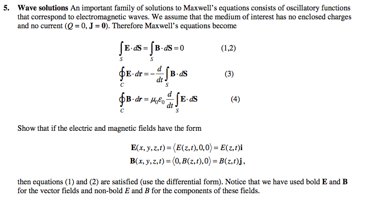 Wave solution An important family of solution to M