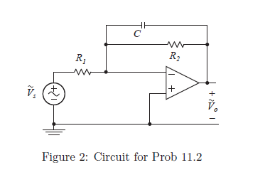 For the circuit shown in Fig. 2, the frequency o