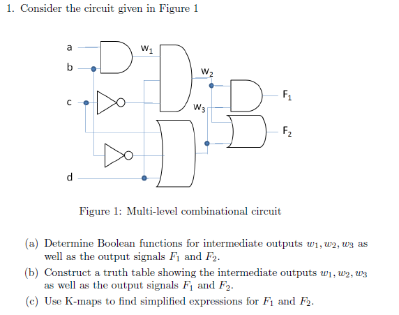 Consider the circuit given in Figure 1 Figure 1: