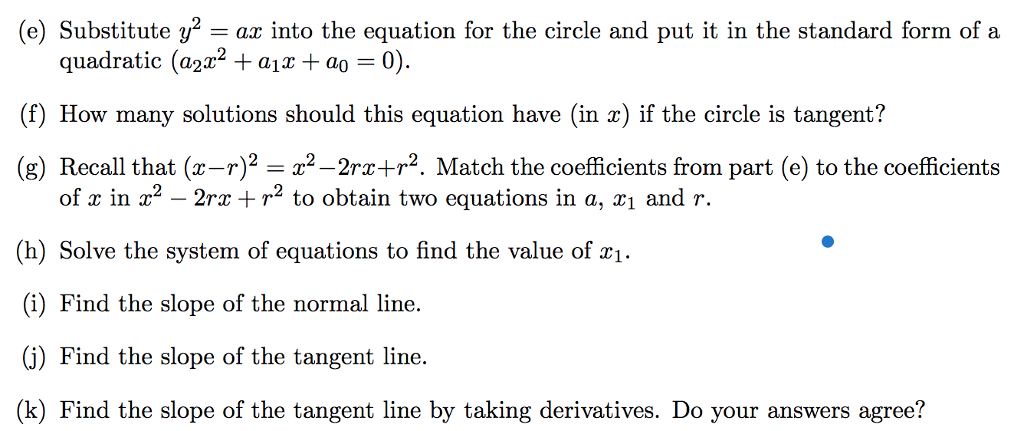 Solved Find An Equation For The Circle Passing Through Th