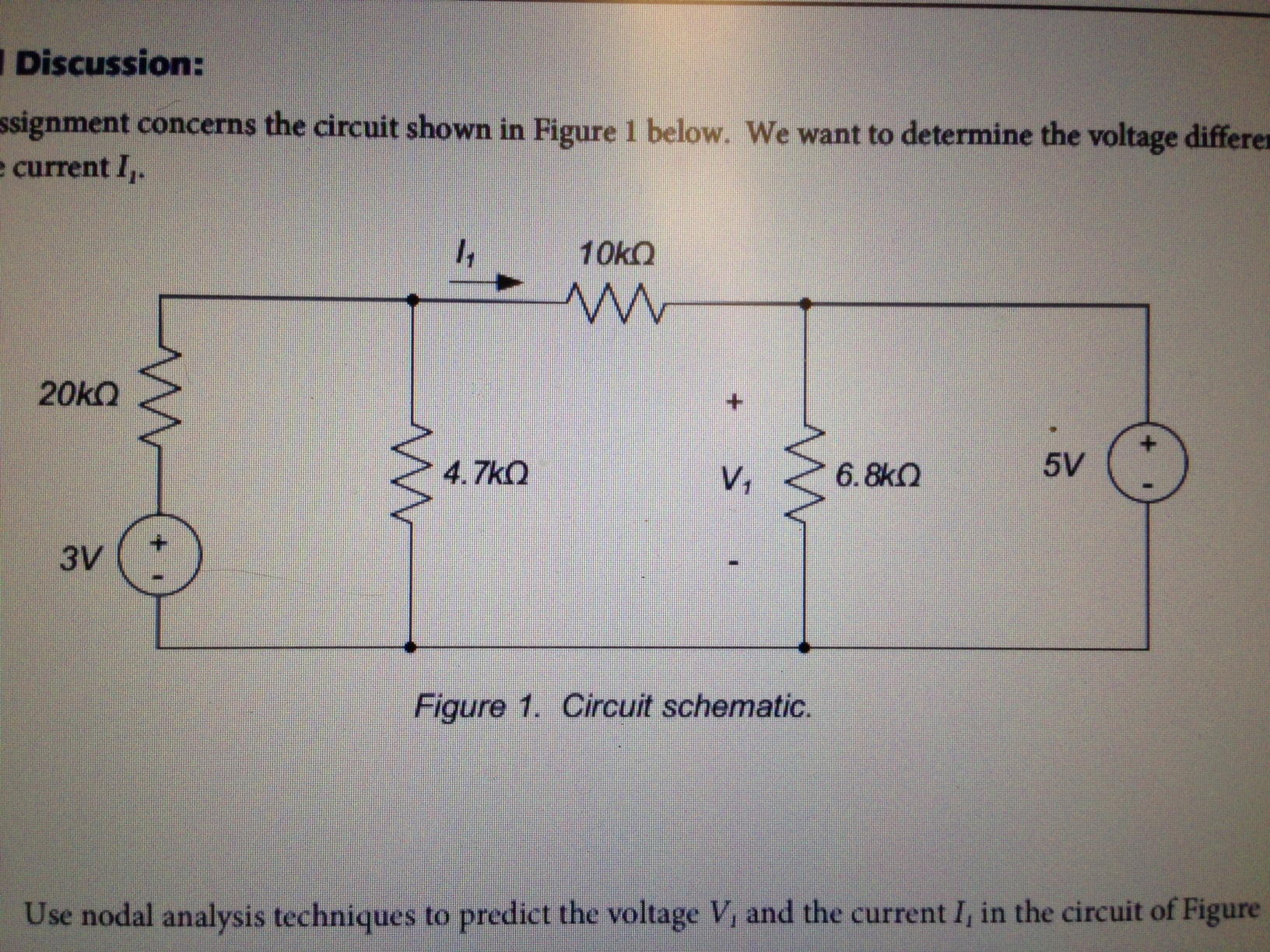 ssignment concerns the circuit shown in figure 1 b