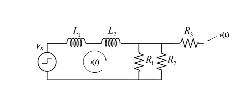 For the circuit below, L1 = 200 mH. L2 = 950 mH. R