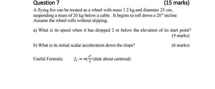 A flying fox can be treated as a wheel with mass 1 chegg a flying fox can be treated as a wheel with mass 1 sciox Image collections