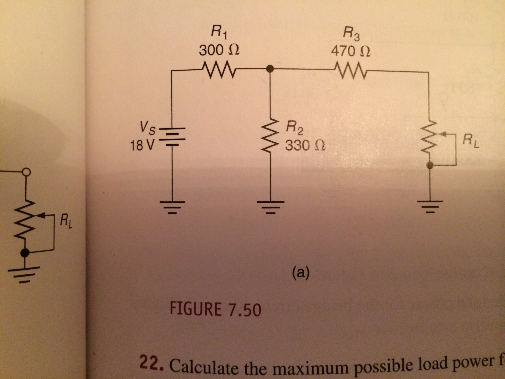 Calculate the maximum possible load power