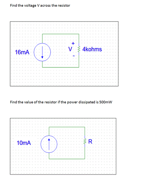 Find the voltage V across the resistor Find the v