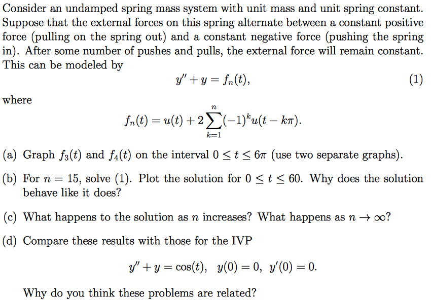 how to solve for spring constant