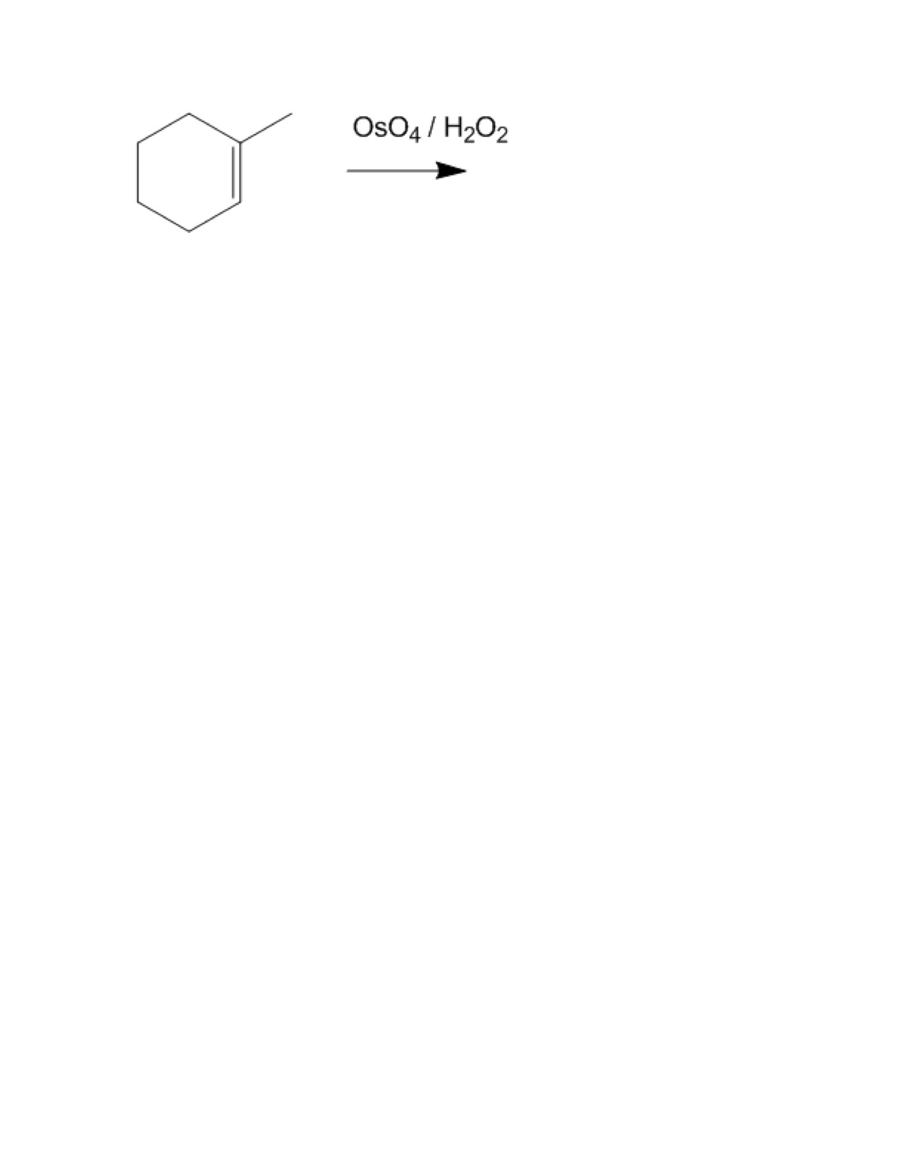 Draw the structure resulting from a reaction of os