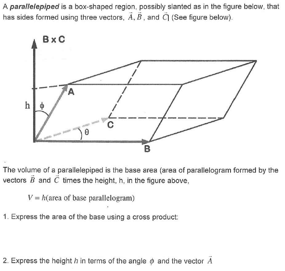 Image For A Parallelepiped Is A Boxshaped Region, Possibly Slanted As In  The Triple Integrals