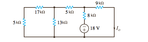 Determine I0 in the circuit in the Figure.