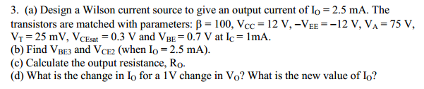 Suppose the current source is attached to a load r
