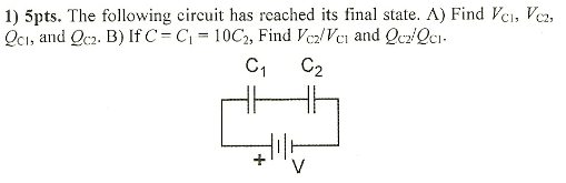 The following circuit has reached its final state.