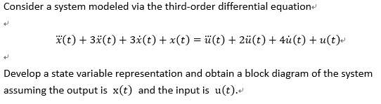 Consider a system modeled via the third-order diff