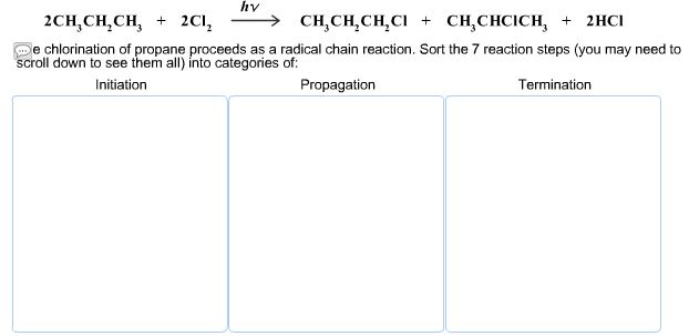 Solved: The Chlorination Of Propane Proceeds As A Radical ...