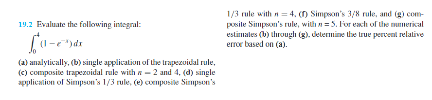 Evaluate the following integral integral40 1 chegg 1 3 rule with n 4 f simpsons 38 sciox Gallery