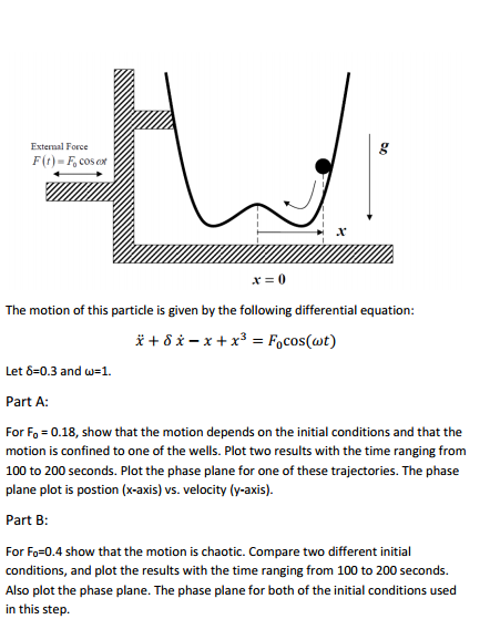 The motion of this particle is given by the foll
