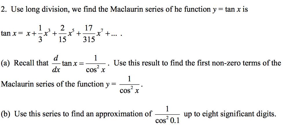 how to solve taylor series questions