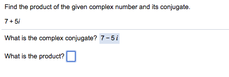 how to get conjugate of complex number