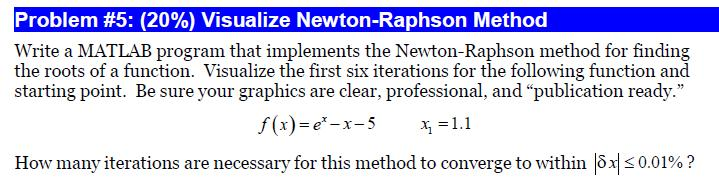 Write a MAT LAB program that implements the Newton