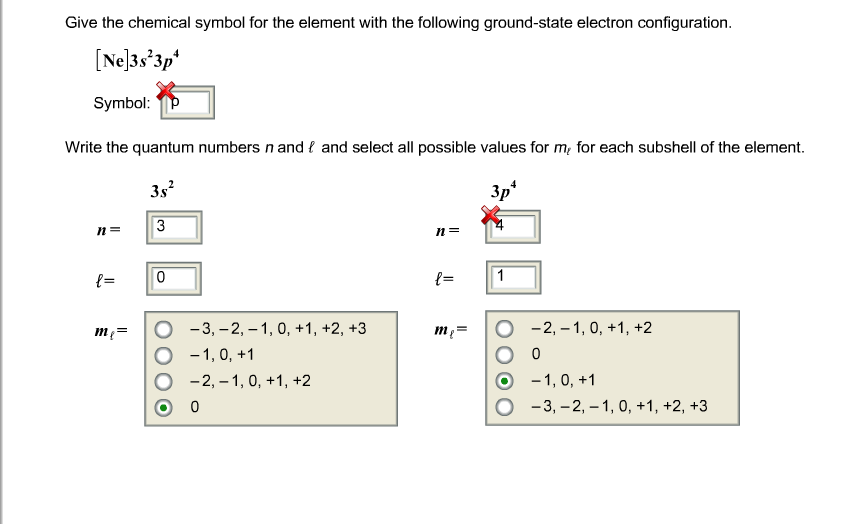 Solved Give The Chemical Symbol For The Element With The