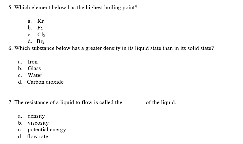 how to find the boiling point of a substance