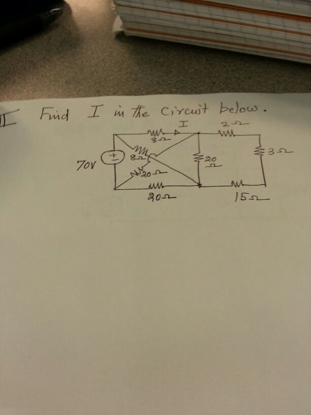Find I in the circuit below.
