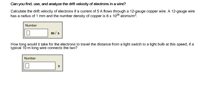 Solved calculate the drift velocity of electrons if a cur can you find use and analyze the drift velocity calculate keyboard keysfo Gallery