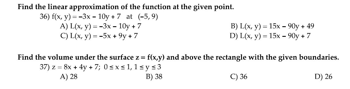 Find the linear approximation of the function at t