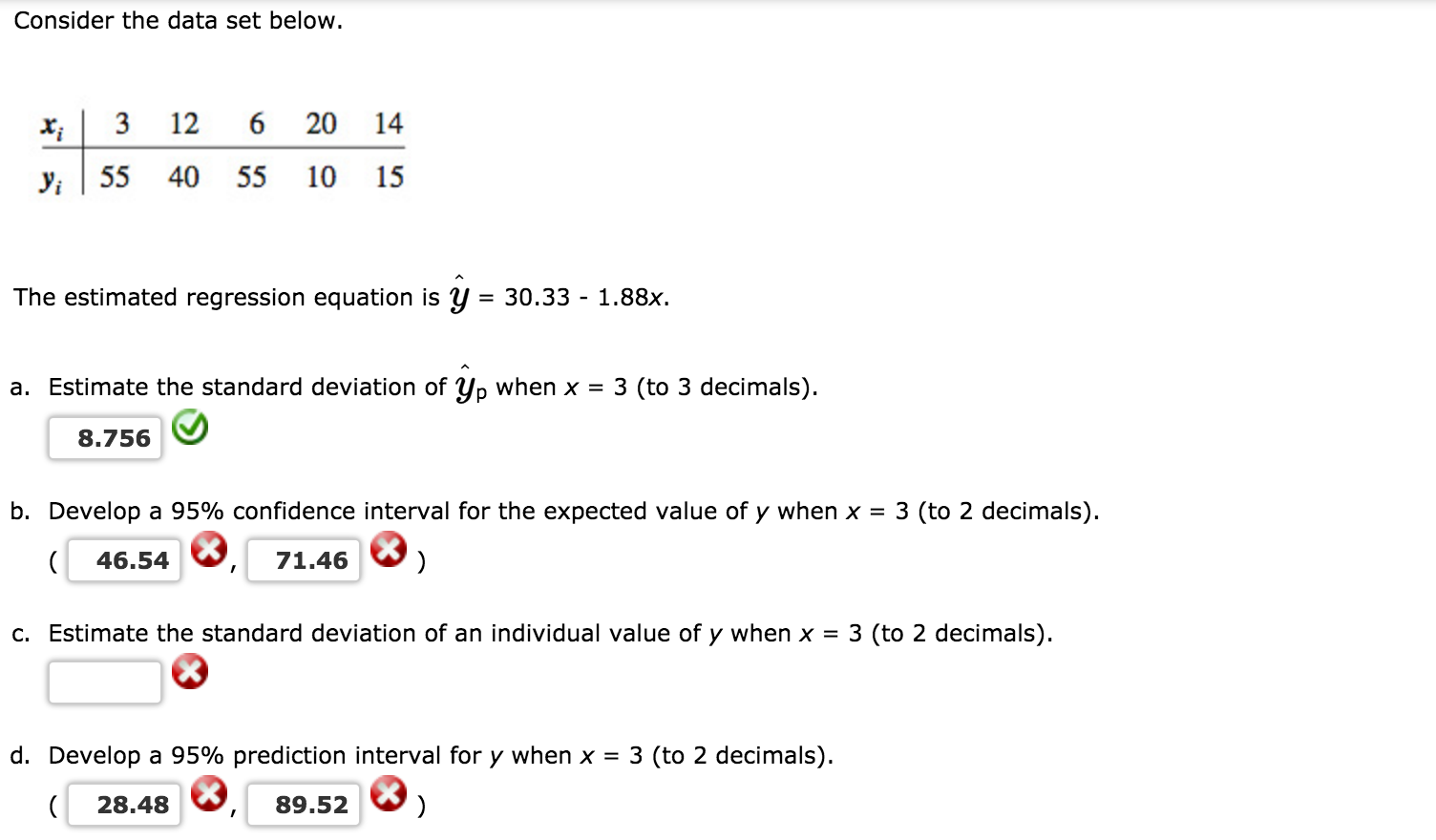 Consider The Data Set Below X 3 12 20 14 Yi 55 40 Download How To Calculate  Standard Deviation