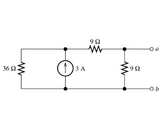 Find the Thevenin voltage for the circuit. Find t